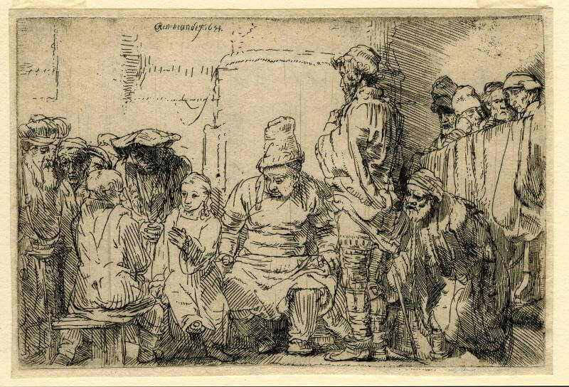 Christ Disputing with the Doctors, 1652 by Rembrandt