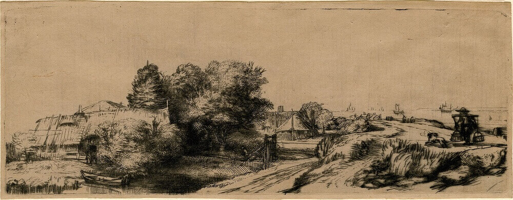 Houses, by Rembrandt