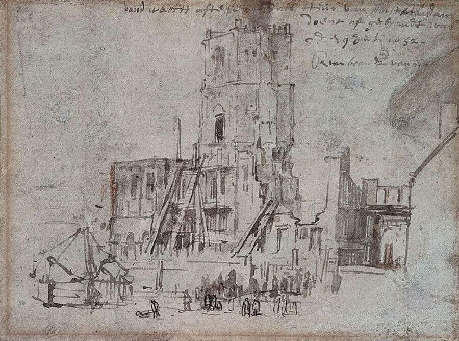 Ruins of Old Town Hall by Rembrandt