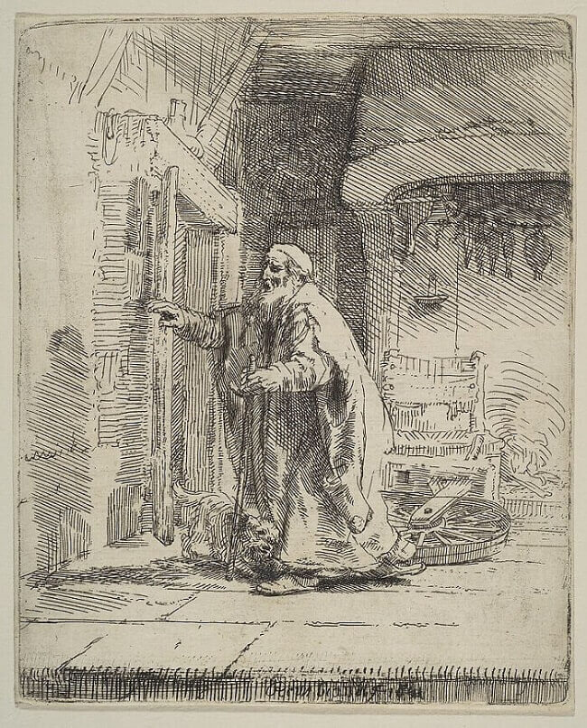 The Blindness of Tobit, 1651 by Rembrandt