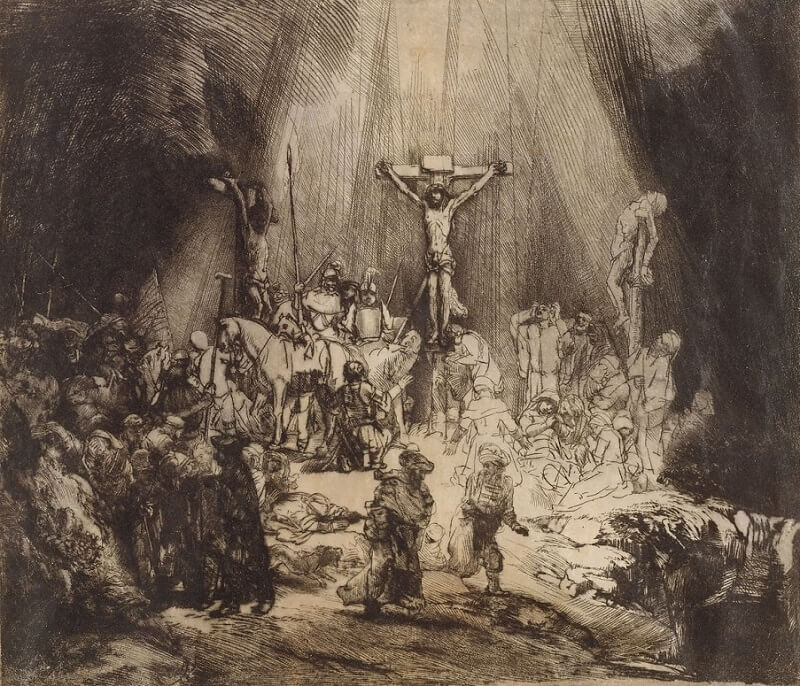 The Three Crosses, 1653 by Rembrandt