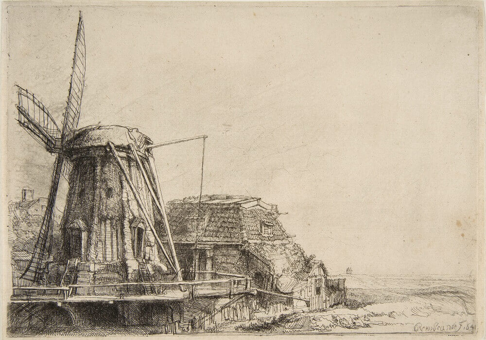 The Windmill, 1641 by Rembrandt