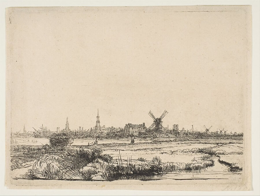 View of Amsterdam, 1641 by Rembrandt