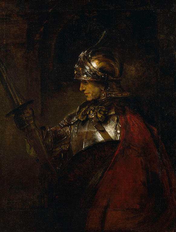 A Man in Armour, 1655 by Rembrandt