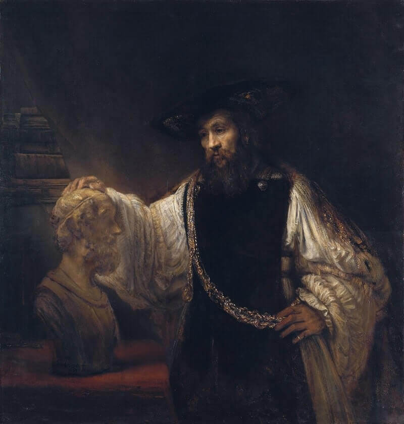 Aristotle with a Bust of Homer, 1653 by Rembrandt