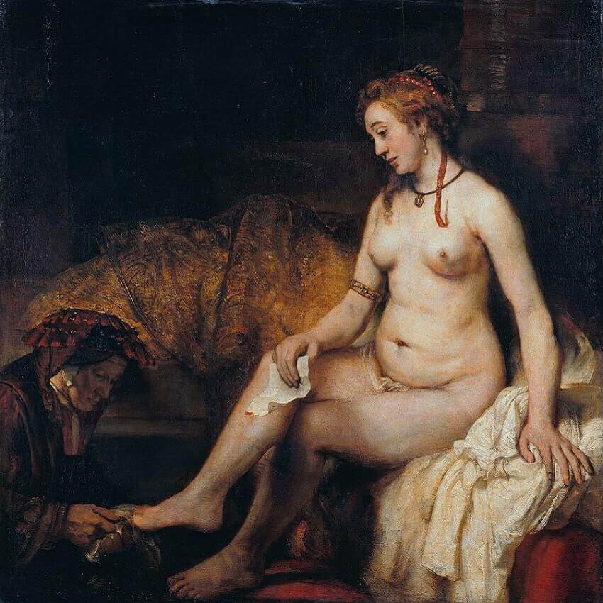 Bathsheba at Her Bath, 1654 by Rembrandt