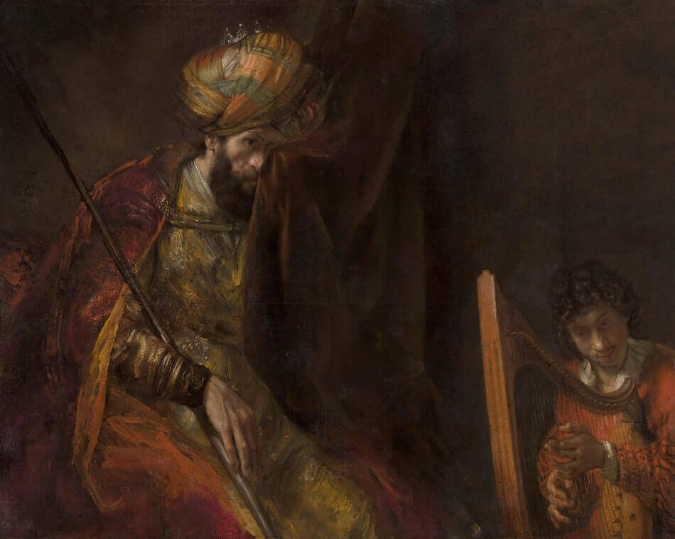 David Playing the Harp Before Saul, 1655 by Rembrandt
