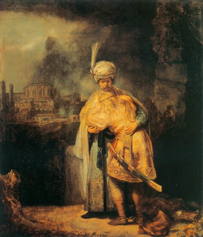 Farewell of David and Jonathan, 1642 by Rembrandt