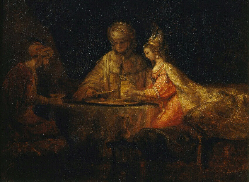 Feast of Esther, 1660 by Rembrandt