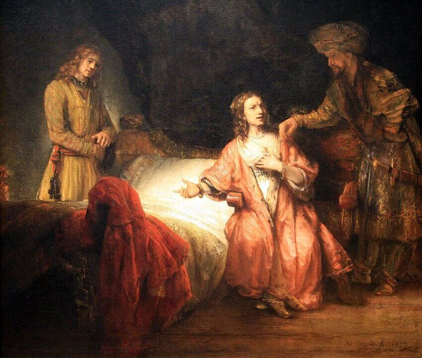 Joseph and Potipliar's Wife, 1655  by Rembrandt