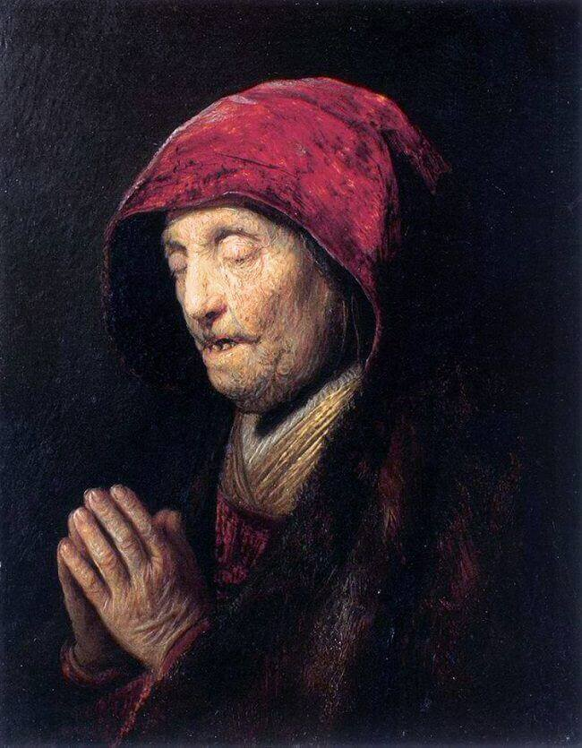 Old Woman Praying, 1629 by Rembrandt