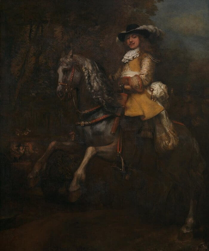 Portrait of Frederick Rihel on Horseback, 1663 by Rembrandt
