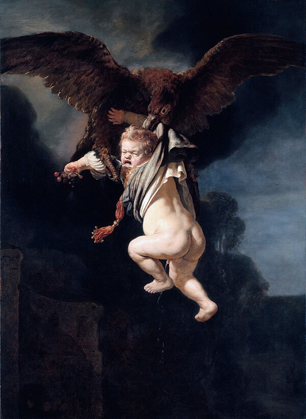Rape of Ganymede by Rembrandt