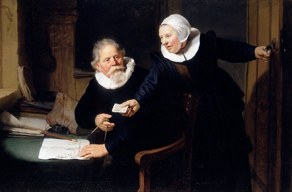 Shipbuilder and his Wife, 1633 by Rembrandt