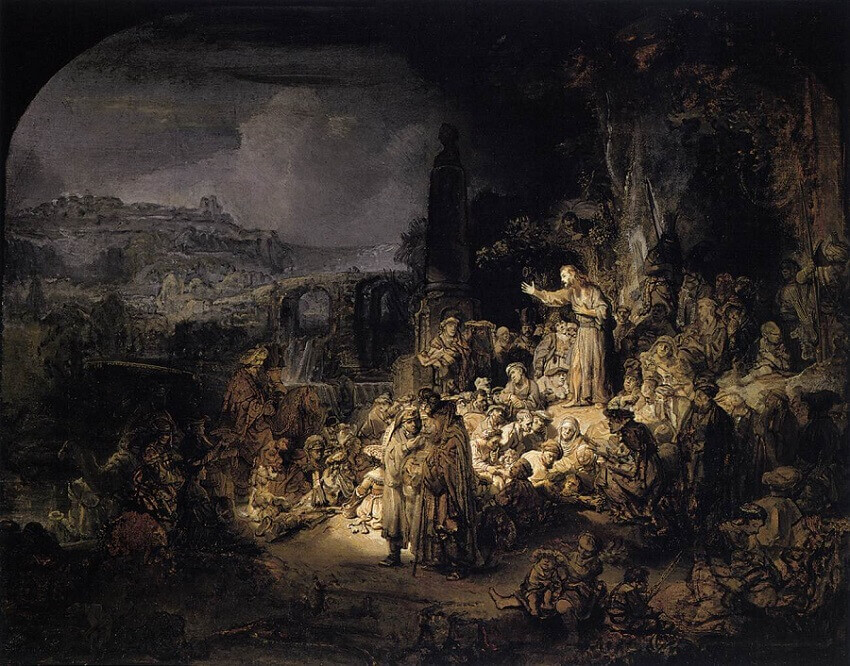 St John the Baptist Preaching, 1643 by Rembrandt