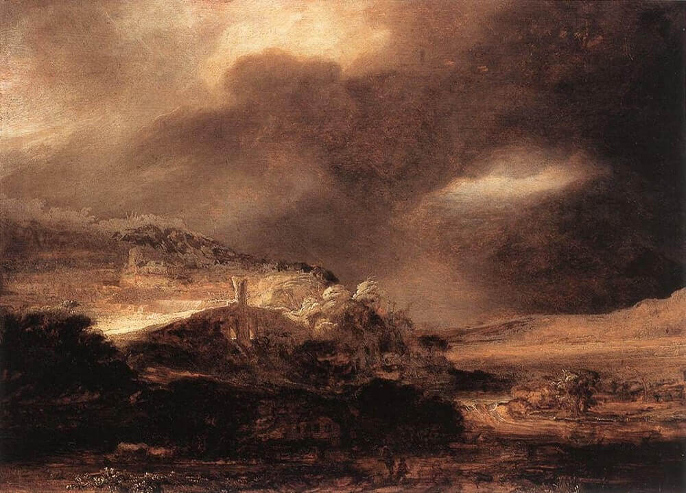 Stormy Landscape, 1638 by Rembrandt