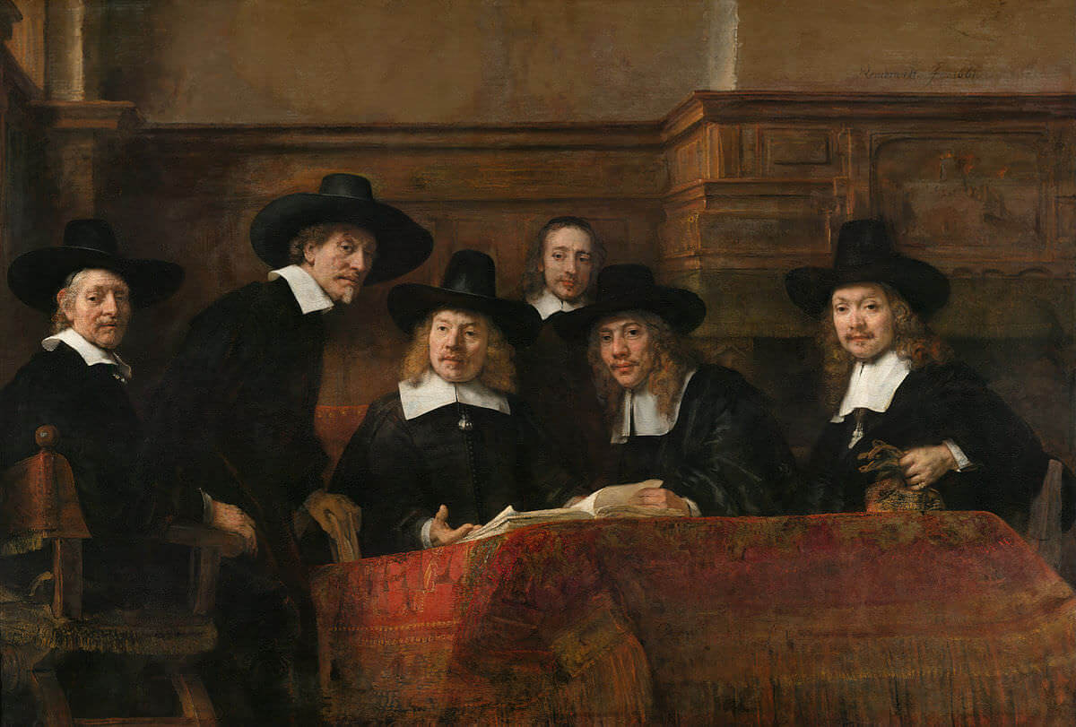 Syndics of the Draper's Guild by Rembrandt