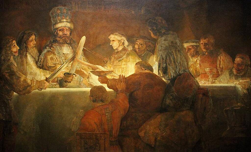 The Conspiracy of Claudius Civilis, 1661 by Rembrandt