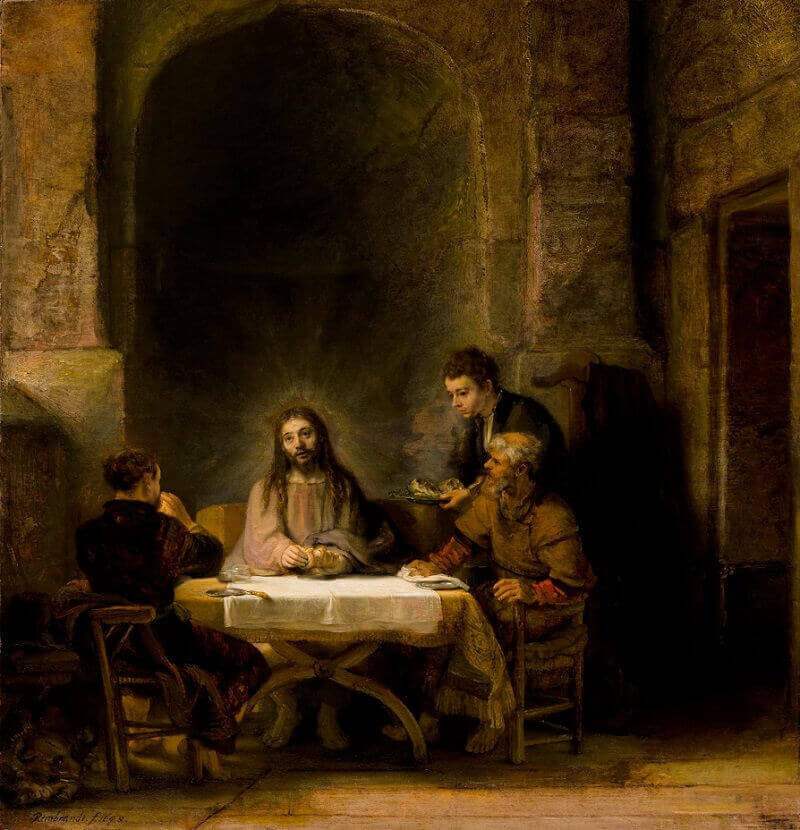 The Supper of Emmaus by Rembrandt